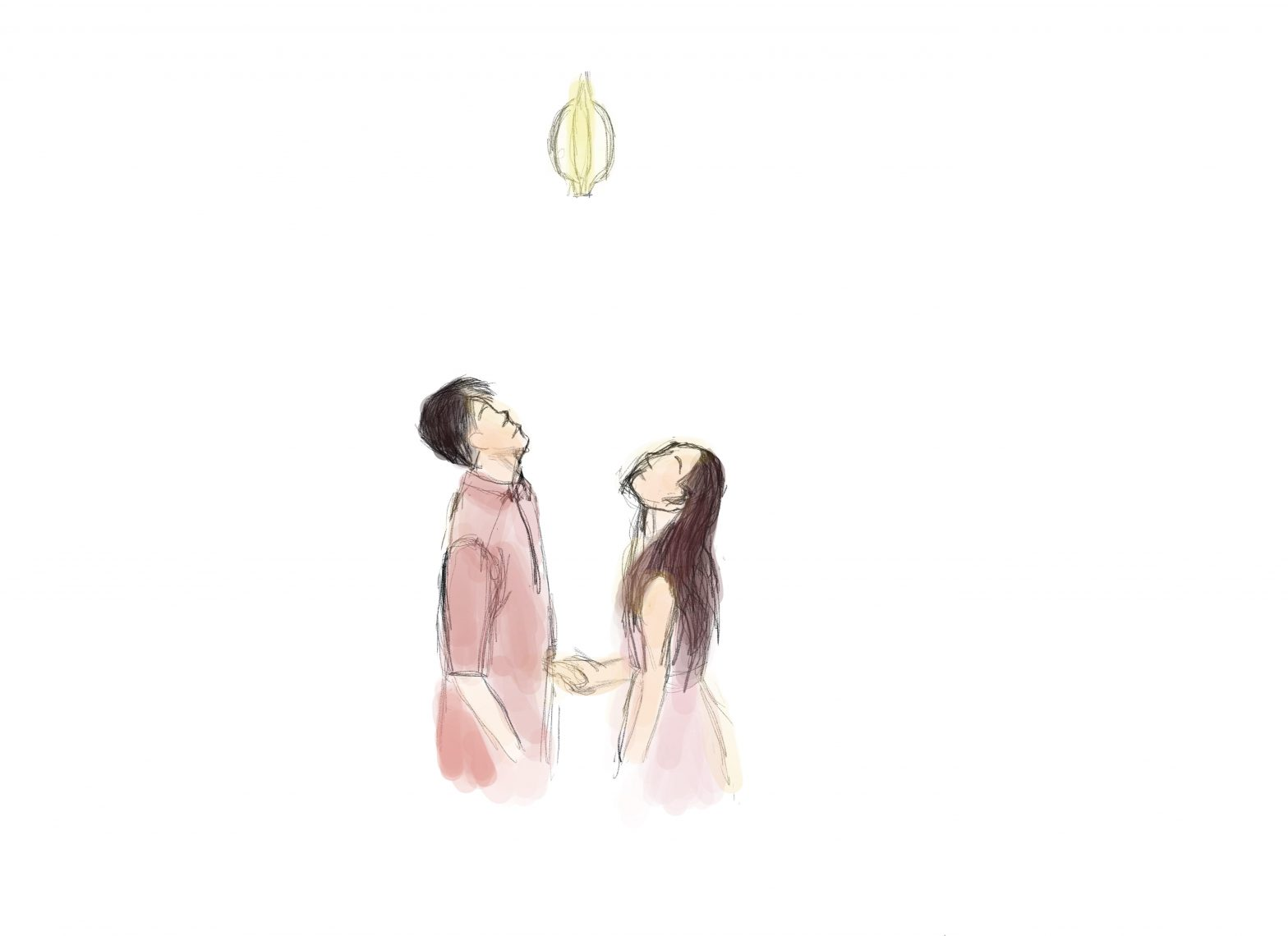 drawing of sean lew and kaycee rice world of dance